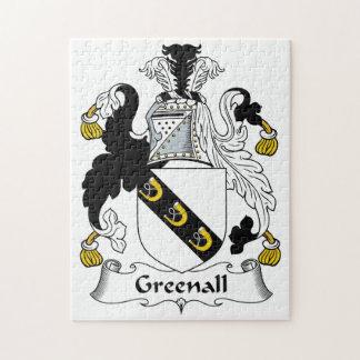 Escudo de la familia de Greenall Rompecabeza Con Fotos