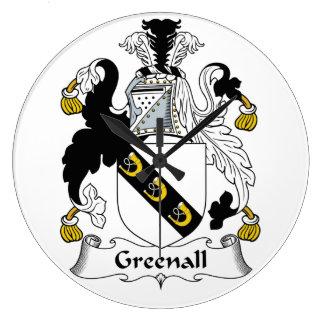 Escudo de la familia de Greenall Relojes De Pared