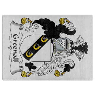 Escudo de la familia de Greenall Tabla Para Cortar