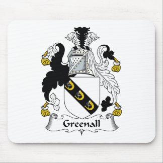 Escudo de la familia de Greenall Alfombrillas De Ratón