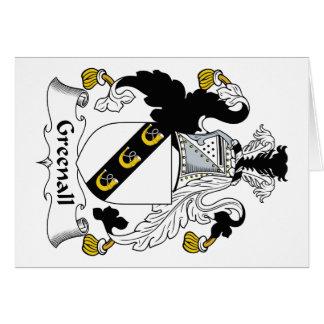 Escudo de la familia de Greenall Tarjetas