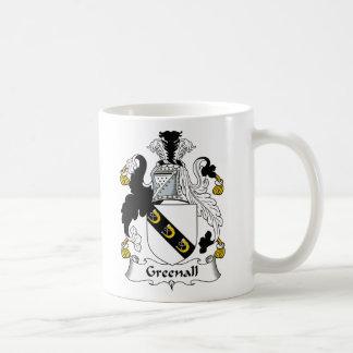 Escudo de la familia de Greenall Tazas De Café