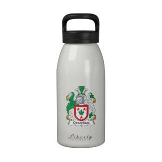 Escudo de la familia de Greenlees Botellas De Beber