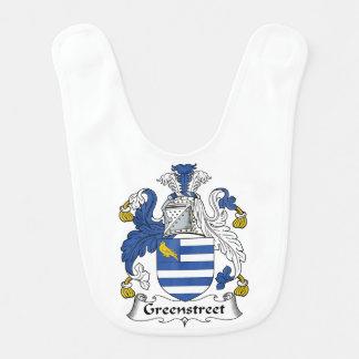 Escudo de la familia de Greenstreet Babero