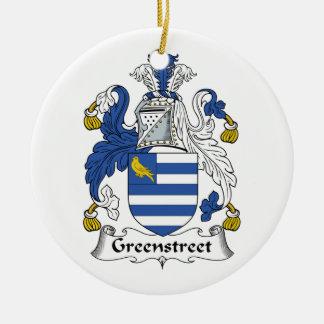 Escudo de la familia de Greenstreet Adorno Redondo De Cerámica