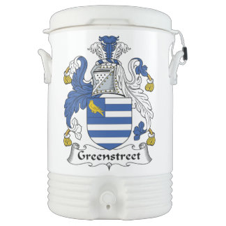 Escudo de la familia de Greenstreet Enfriador De Bebida Igloo