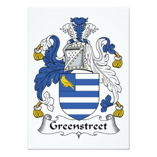 Escudo de la familia de Greenstreet Invitación 12,7 X 17,8 Cm