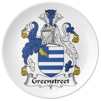 Escudo de la familia de Greenstreet Platos De Cerámica