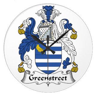 Escudo de la familia de Greenstreet Reloj Redondo Grande