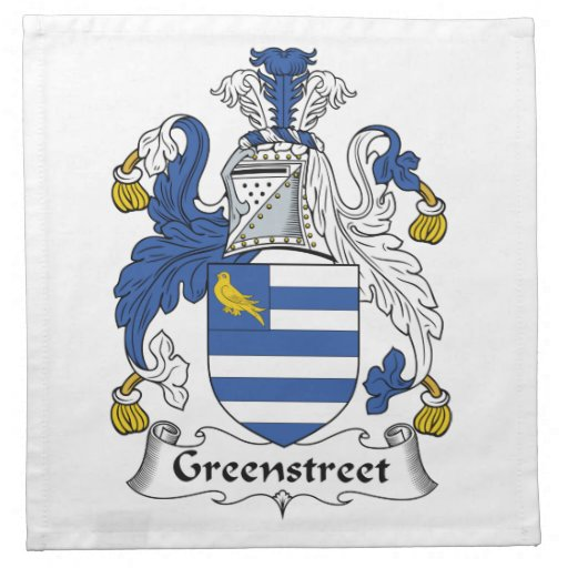 Escudo de la familia de Greenstreet Servilletas De Papel