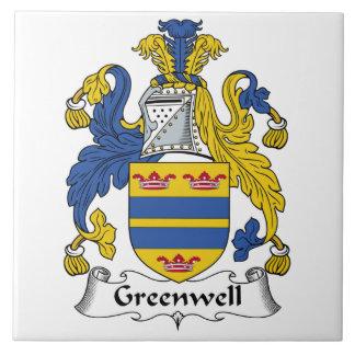 Escudo de la familia de Greenwell Azulejos