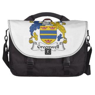 Escudo de la familia de Greenwell Bolsas Para Ordenador