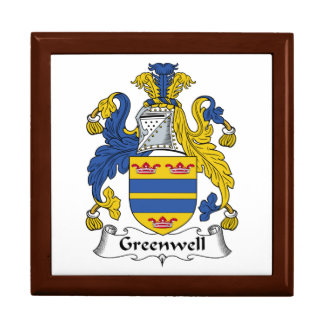 Escudo de la familia de Greenwell Caja De Joyas