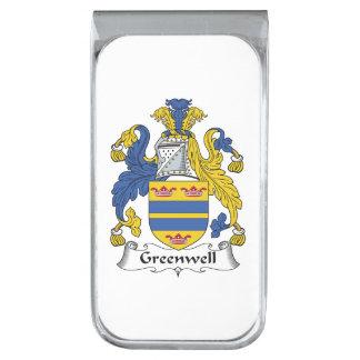 Escudo de la familia de Greenwell Clip Para Billetes Plateado