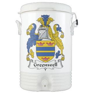 Escudo de la familia de Greenwell Enfriador De Bebida Igloo