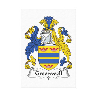 Escudo de la familia de Greenwell Lienzo Envuelto Para Galerias