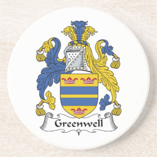 Escudo de la familia de Greenwell Posavasos Cerveza