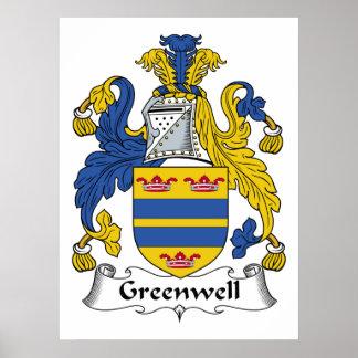 Escudo de la familia de Greenwell Posters