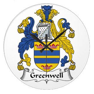 Escudo de la familia de Greenwell Reloj