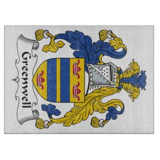 Escudo de la familia de Greenwell Tabla De Cortar