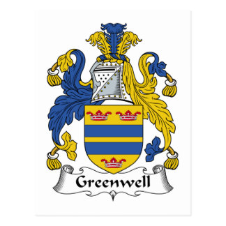Escudo de la familia de Greenwell Tarjetas Postales