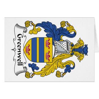Escudo de la familia de Greenwell Tarjeton