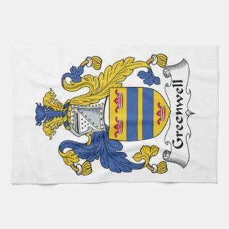 Escudo de la familia de Greenwell Toalla