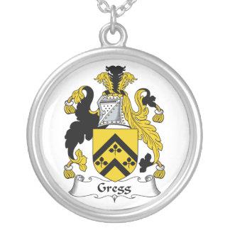 Escudo de la familia de Gregg Colgante Redondo