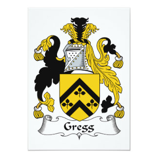 """Escudo de la familia de Gregg Invitación 5"""" X 7"""""""