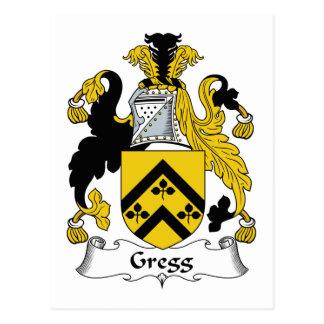 Escudo de la familia de Gregg Postales