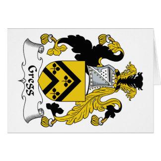 Escudo de la familia de Gregg Tarjeta De Felicitación