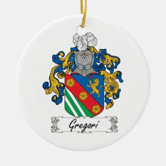 Escudo de la familia de Gregori Adorno Redondo De Cerámica