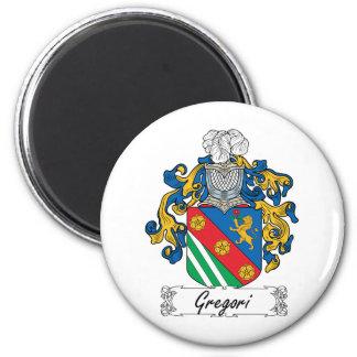 Escudo de la familia de Gregori Imán Redondo 5 Cm