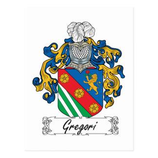 Escudo de la familia de Gregori Tarjeta Postal