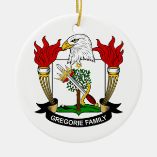 Escudo de la familia de Gregorie Adorno Redondo De Cerámica