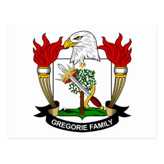 Escudo de la familia de Gregorie Tarjetas Postales