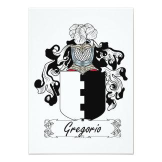 """Escudo de la familia de Gregorio Invitación 5"""" X 7"""""""