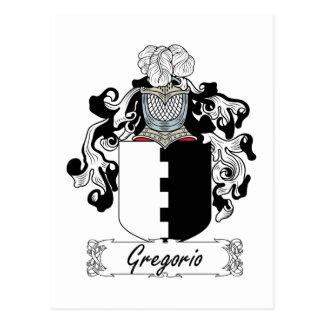 Escudo de la familia de Gregorio Tarjeta Postal