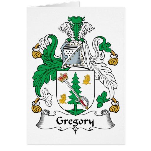 Escudo de la familia de Gregory Felicitaciones
