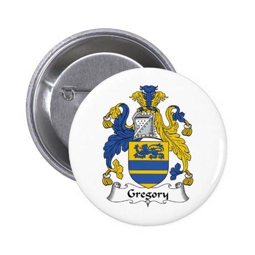Escudo de la familia de Gregory Pin Redondo 5 Cm