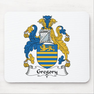 Escudo de la familia de Gregory Alfombrilla De Ratones