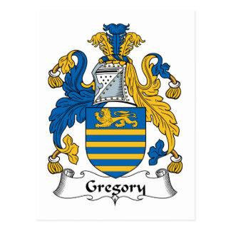 Escudo de la familia de Gregory Tarjeta Postal