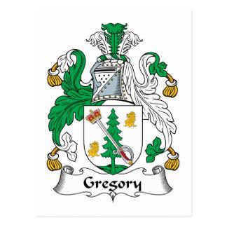 Escudo de la familia de Gregory Tarjetas Postales