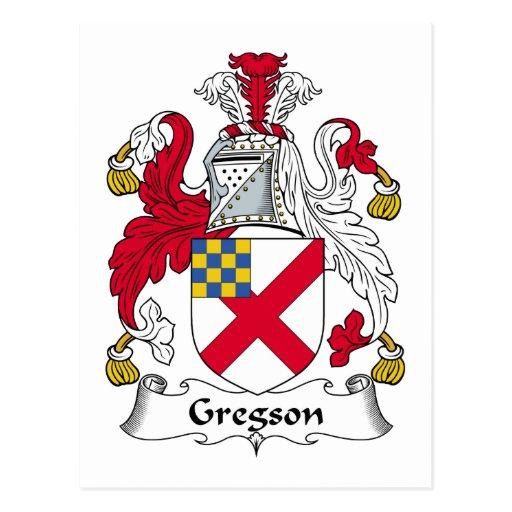 Escudo de la familia de Gregson Postal