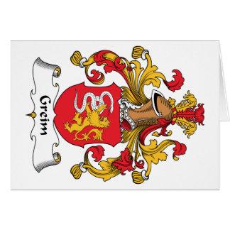 Escudo de la familia de Greim Tarjeta De Felicitación