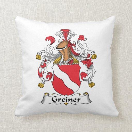 Escudo de la familia de Greiner Cojines