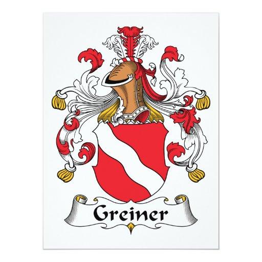 Escudo de la familia de Greiner Comunicado Personal