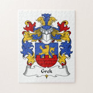 Escudo de la familia de Grek Rompecabezas Con Fotos