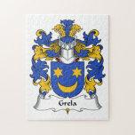Escudo de la familia de Grela Puzzle