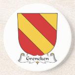 Escudo de la familia de Grencken Posavaso Para Bebida